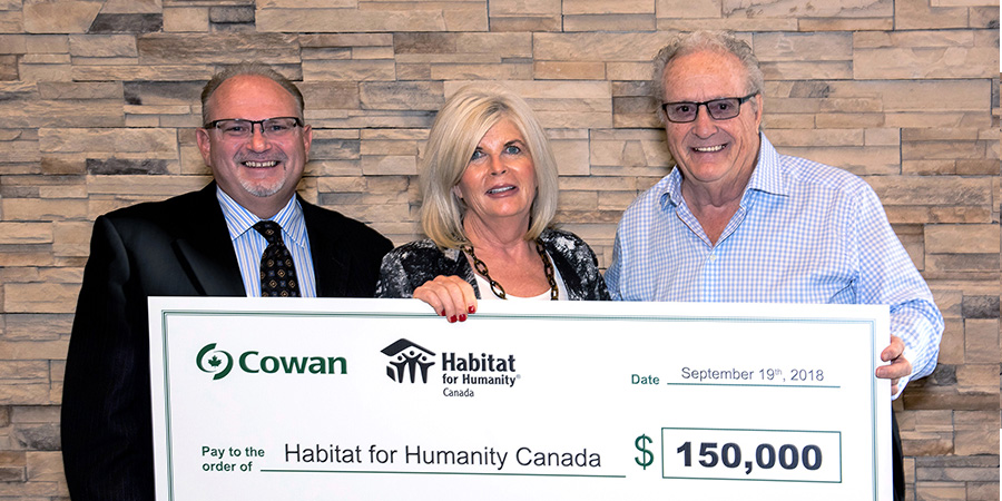 2018 Cheque presentation to Habitat for Humanity